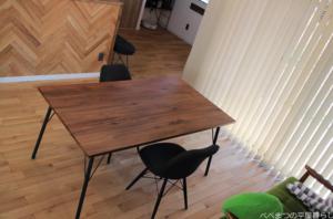 平屋 無垢材の床 オーク材 ナチュラル バーチカルブラインド