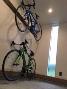 30坪平屋 土間 ロードバイク