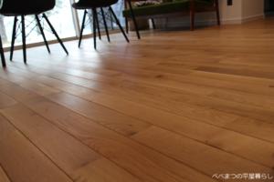 無垢材の床 オーク材
